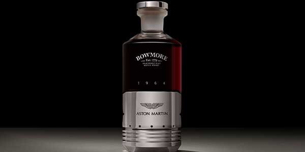 Aston Martin and Bowmore created a DB5-inspired single malt whisky