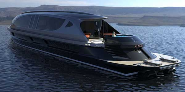 Xenos, the luxury superyacht with its own Bugatti