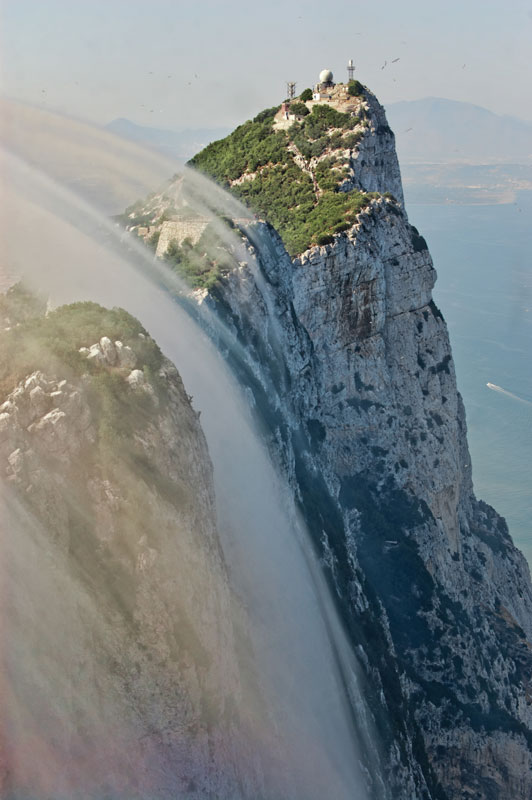 Gibraltar is the world's largest monolith, at 426m.