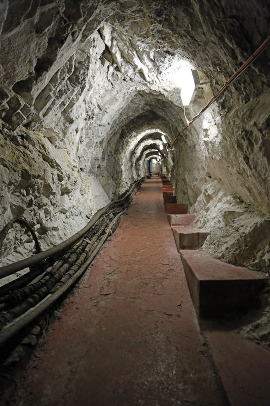 The tunnels were initially dug manually during the Great Siege, which took place between 1779 and 1783.