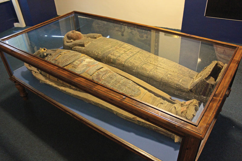 Mummies at the Gibraltar Museum.