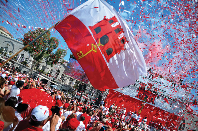 The National Day of Gibraltar is celebrated every year on September 10.