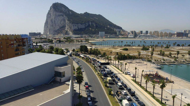 La Verja is the border that separates Gibraltar and Spain; thousands of people travel through it every day