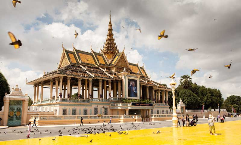 Amura, Camboya, Cambodia,Museo Nacional de Camboya , Royal Palace: home to the royalty since it was built in the 1960´s