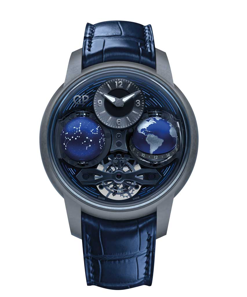 Amura,Okinawa,Time Machine,Salon International de la Haute Horlogerie 2019, GIRARD PERREGAUX Bridges <br />Cosmos Soldat